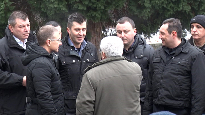 Ministri u poseti migrantima